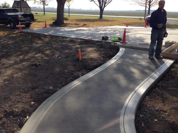 New Sidewalk and Driveway