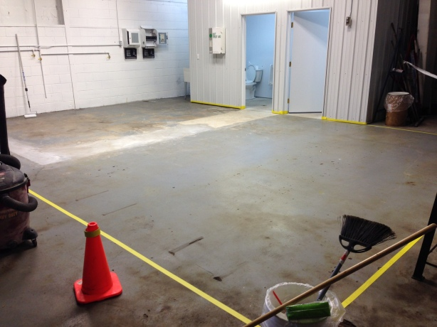 BEFORE ~ Epoxy floor system for commercial project