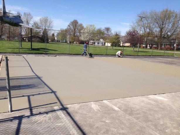 Tennis Court Slab